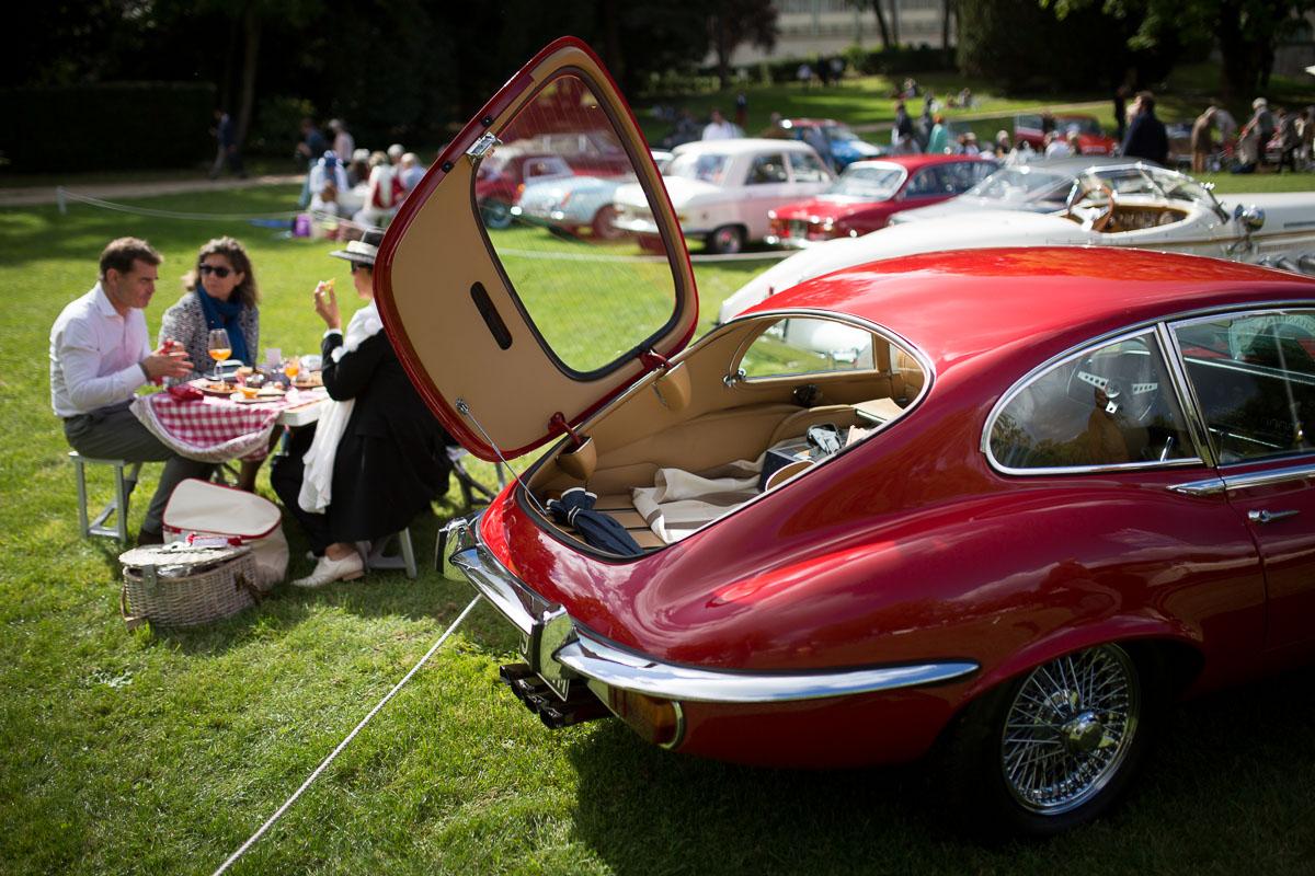 Jaguar Type-E au concours d'élégance automobile de Chantilly